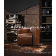 Главная б / у антикварная деревенская кожаный диван A608