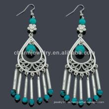 Hand Handwerk antike Silber Mode Perlen Ohrring Vners SE-009