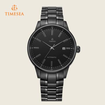 Relógio automático de aço inoxidável simples e elegante 72322