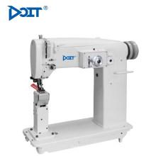 Traje industrial de la máquina de coser del zigzag de la sola aguja de la cama del poste de DT 2150H para el cuero