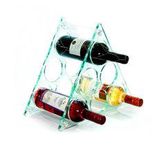 Titular de exibição de plexiglass transparente para vinhos