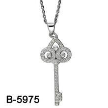 Neueste Design 925 Silber Mikro Einstellung Anhänger Rhodium Plating. (B-5975)