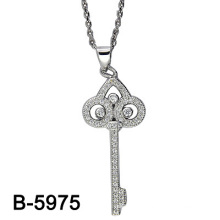 Latest Design 925 Silver Micro Setting Pendant Rhodium Plating. (B-5975)