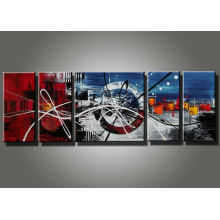 Framed Canvas Group Abstract Oil Painting