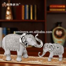 Decoración del hotel decoraciones del hogar interior venta al por mayor artes de la resina de la resina del arte estatua de lujo de la resina del elefante