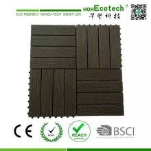 Baldosas de madera WPC DIY Floor Decks & Interlocking Garden Tiles