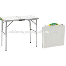 Aluminium camping folding BBQ table
