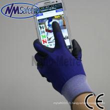 NMSAFETY super doux top fit pu téléphone intelligent écran tactile gant