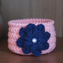 Housewarming Basket Crochet Bowl Desk Storage Basket