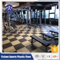 Boa telha de assoalho de borracha crossfit elástico protetora, tapetes de borracha para o ginásio
