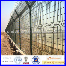 galvanized razor barbed wire security airport fence