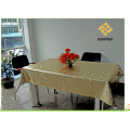 PVC Gold Embossed Tablecloth with Fabric Backing