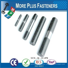 Made In Taiwan Double End Threaded Stud or Rod Stainless Steel or Carbon Steel