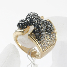 Hotsale Fashion Designer Gold Plated Royal Sparking Rhinestone Queen Rings for Women