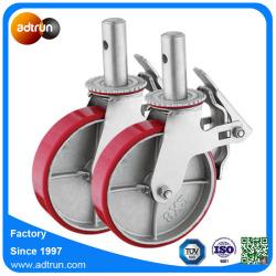 Cast Iron Hub PU Caster Wheels for Scaffold