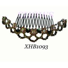Мода волос ювелирные изделия Diamond расческой (XHB1093)