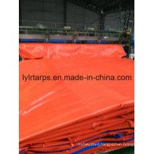 Orange/Blue PE Tarpaulin Cover, Poly Tarp Sheet