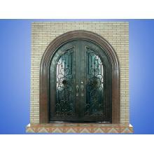 Porta de ferro fundido antigo