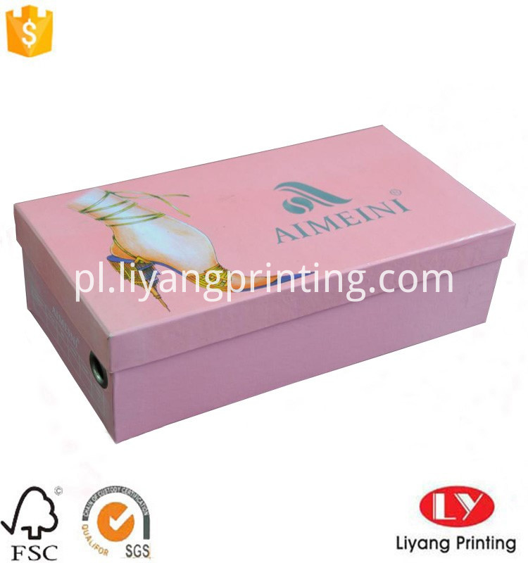 printed shoes box