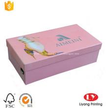 Starre Pappschuhverpackungskasten für Dame