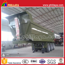 U Shape Hydraulic Tipping Semi Box Dump Trailers