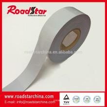 tecido de lycra reflexivo alta prata lateral dobro para sportswear