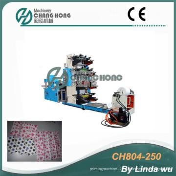 4 цветная печатная машина для печатных машин Flexo Serviette (CH804-250)
