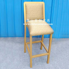 Comfortable Seat Cushion Gold Bar Stool Chair (YC-H004)