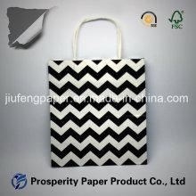 Bolsa de papel Kraft branco impressa