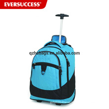 Mochila al por mayor de la carretilla de la mochila de la fábrica de China con las ruedas para el adolescente, mochila que rueda que viaja (ESV245)