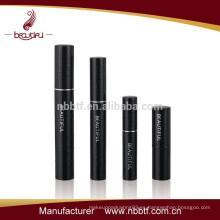 Negro personalizado maquillaje rimel mascara tubo de rimel de aluminio