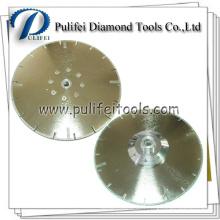 Disque de coupe de diamant électrolytique de bride pour la lame de coupeur de pierre de marbre
