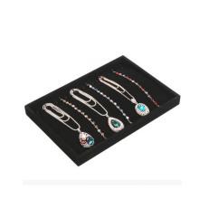 Modische Schmuck-Shop Black Flocked Halskette Display-Tray (TY-10N-BV)