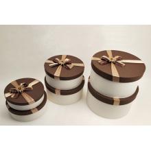Caja de decoración de regalo redonda hermosa decorada