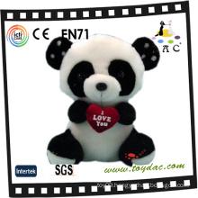 Plush Valentine Panda Toy