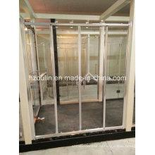 Душевая дверь с большим роликом из нержавеющей стали