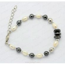 bracelet de perles naturelles hématite