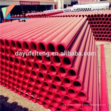 China bomba de concreto peças dn125 tubo de aço carbono sem costura tubo endurecido