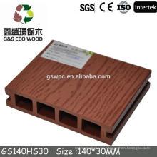 WPC pavimentação exterior, baixa manutenção WPC decking