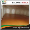 14x14m hohe Spitzenereisezelt mit Holzboden für 150 Personen