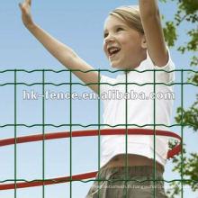 Clôture de jardin euro enduite de vinyle, clôture de l'euro