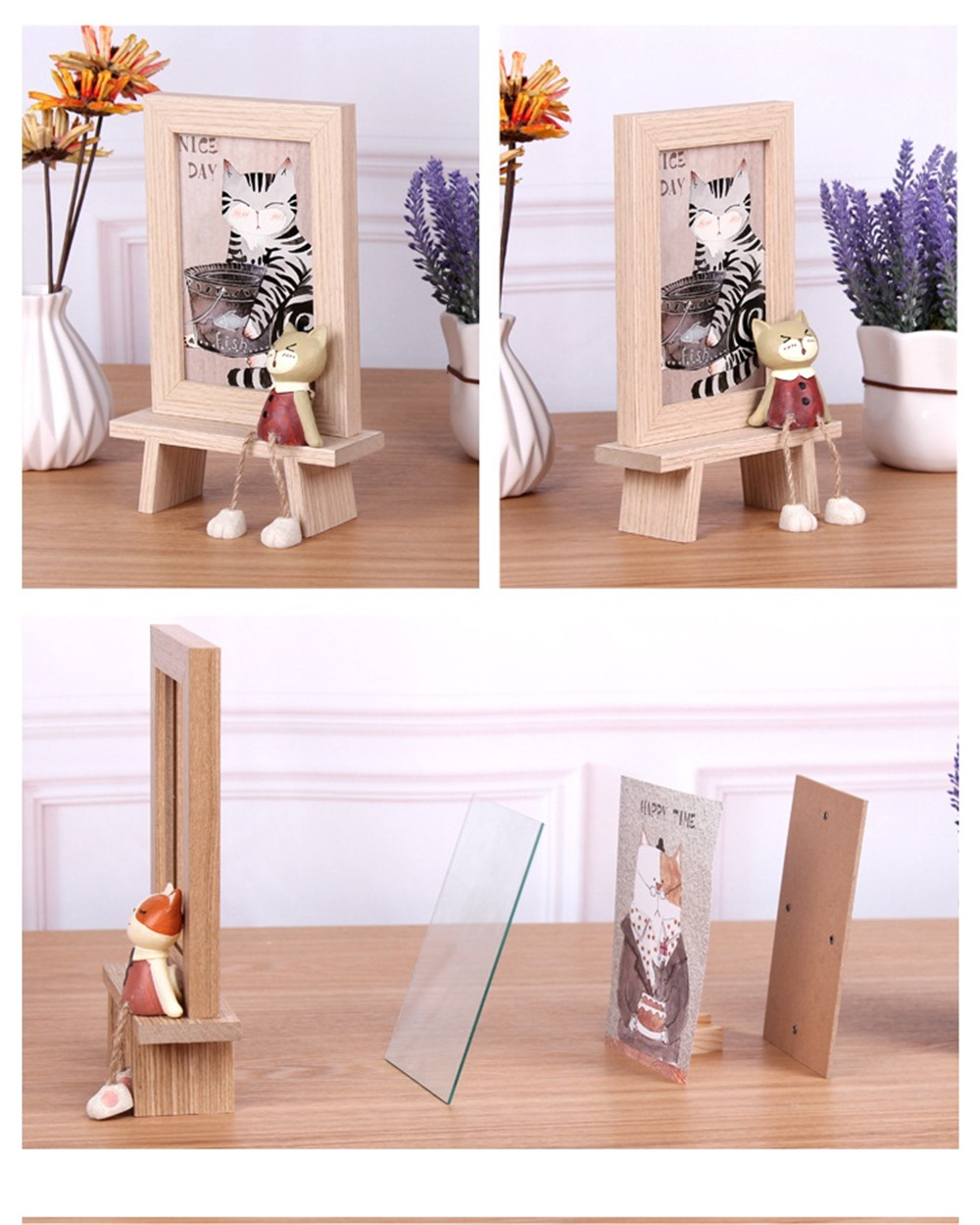 different mood wooden frame