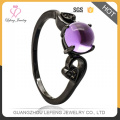 Fashionable Black Copper Jewelry ladies ornaments key ring For lady