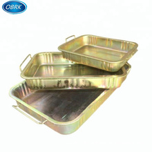 Factory price hot sale high quality other vehicle repair tools auto part metal waste oil drain pan wash clean oil basin in China