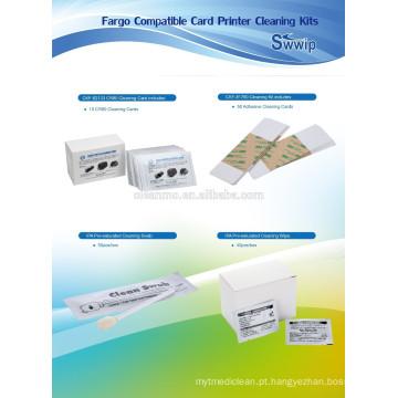 Kits de Limpeza Fargo CKF-81760 (Limpeza CR80 IPA swab IPA toalhetes de limpeza do rolo adesivo pegajoso da caneta de limpeza)