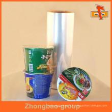 Film de rétractation à chaleur POF transparent bon marché pour les nouilles / vaisselle Snack