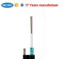GYXTC8S Figura 8 tubo solto central autoportante 2 6 12 24 cabo de fibra óptica central