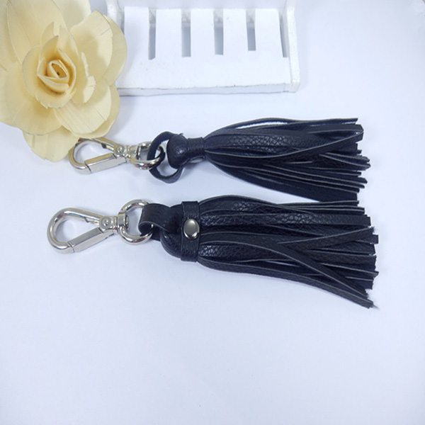 Leather Tassel Keychain For Bag