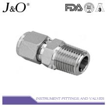 Connecteur mâle en acier inoxydable Raccord en tube de compression