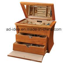 Три слоя выставка шкафа для ювелирных изделий Дисплей